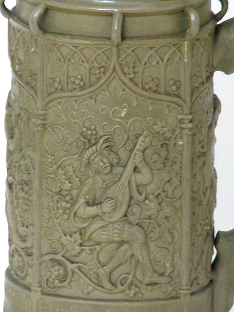 keramik bierkrug auf zinndeckel regensburg wappen datiert um 1847. Black Bedroom Furniture Sets. Home Design Ideas